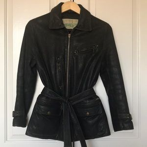 Guess leather jacket size S